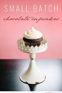 Small Batch Chocolate Cupcakes with Vanilla Buttercream Frosting - Big Sky Little Kitchen