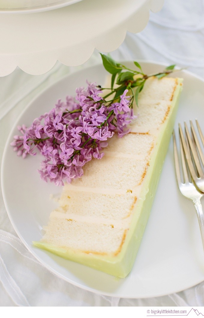 Vanilla Cake with Lilacs and Buttercream - Big Sky Little Kitchen
