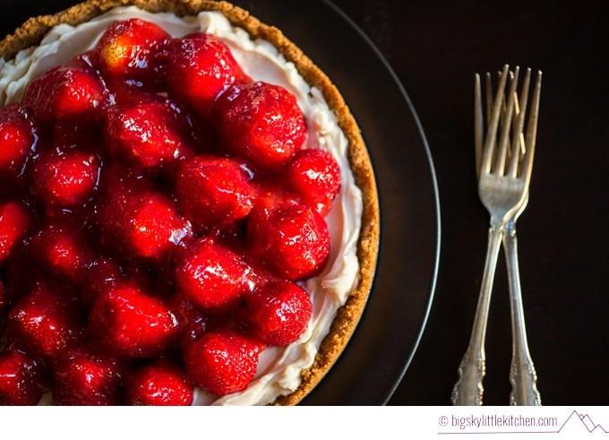 Summer Strawberry Almond Cream Tart - Big Sky Little Kitchen