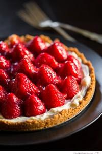 Summer Strawberry Almond Tart - Big Sky Little Kitchen