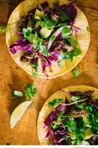 Carnitas Tacos with Red Cabbage Citrus Slaw - Big Sky Little Kitchen
