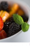 Peach Blackberry and Strawberry Fruit Salad with Basil, Lime and Pepper - Big Sky Little Kitchen
